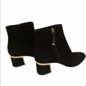 DKNY Suede Crosbi Ankle Boots